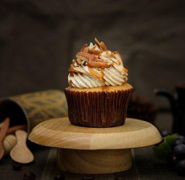 Almond flavoured cupcake.