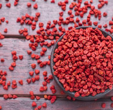 Achiote tree seeds used to make Annatto