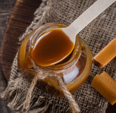 Butterscotch in a jar