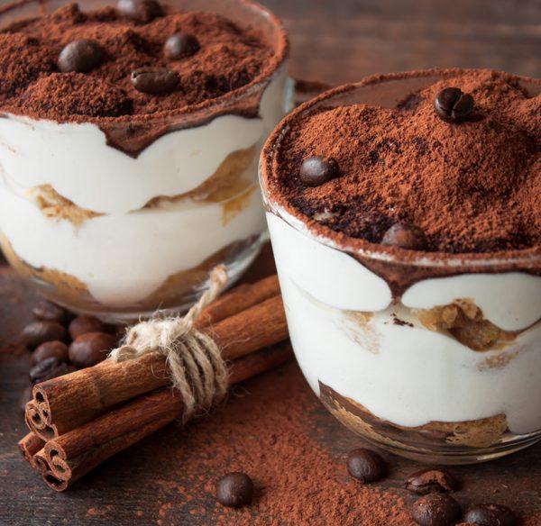Coffee and cinnamon on ice cream