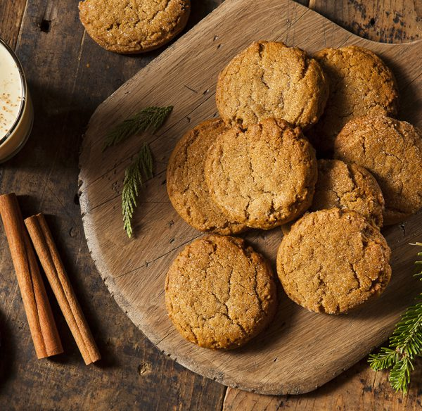 Ginger Biscuits on a plate