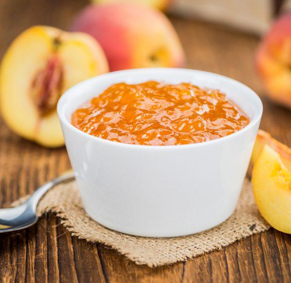 Peach desert in a bowl