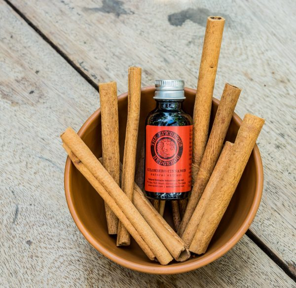 Kilombero Cinnamon in a bowl of cinnamon bark.