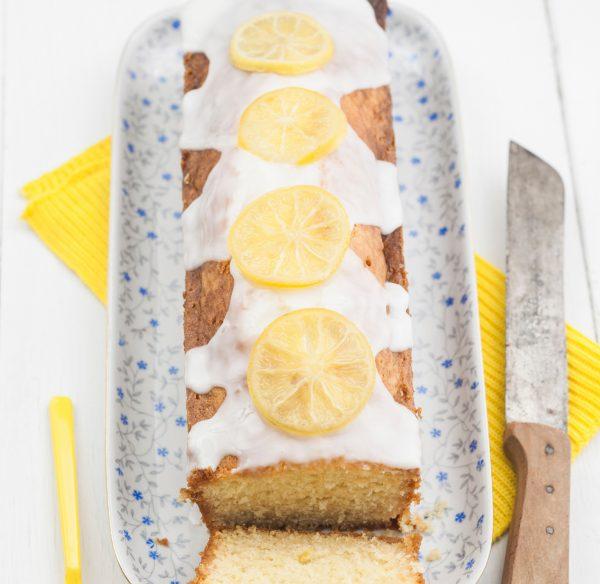 Lemon cake made using lemon & lime essence